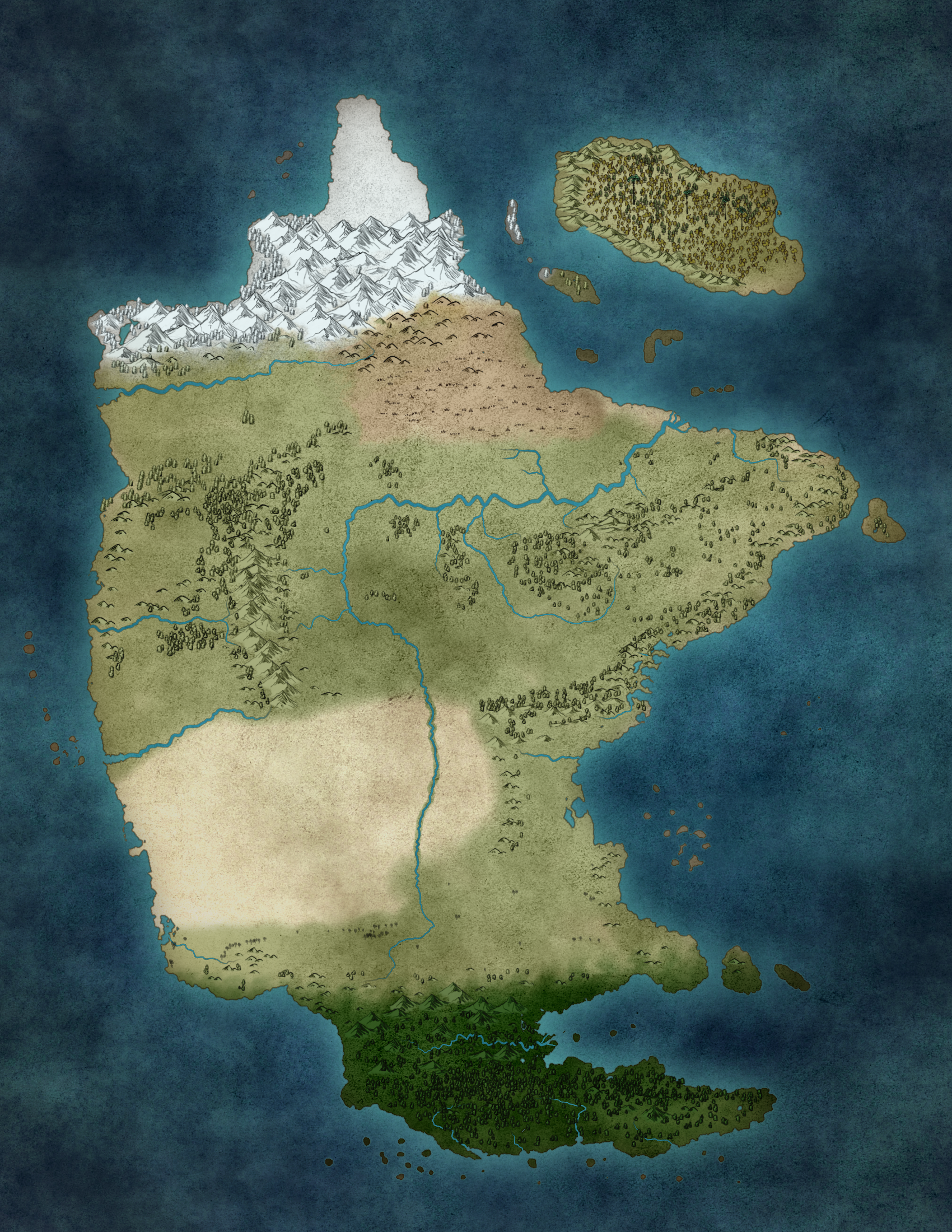 The continent of Kisandra